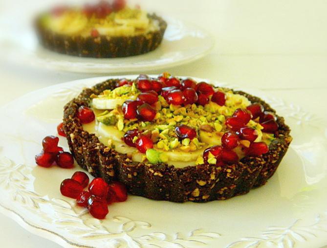 chocolate banana cream pie raw vegan recipe 1